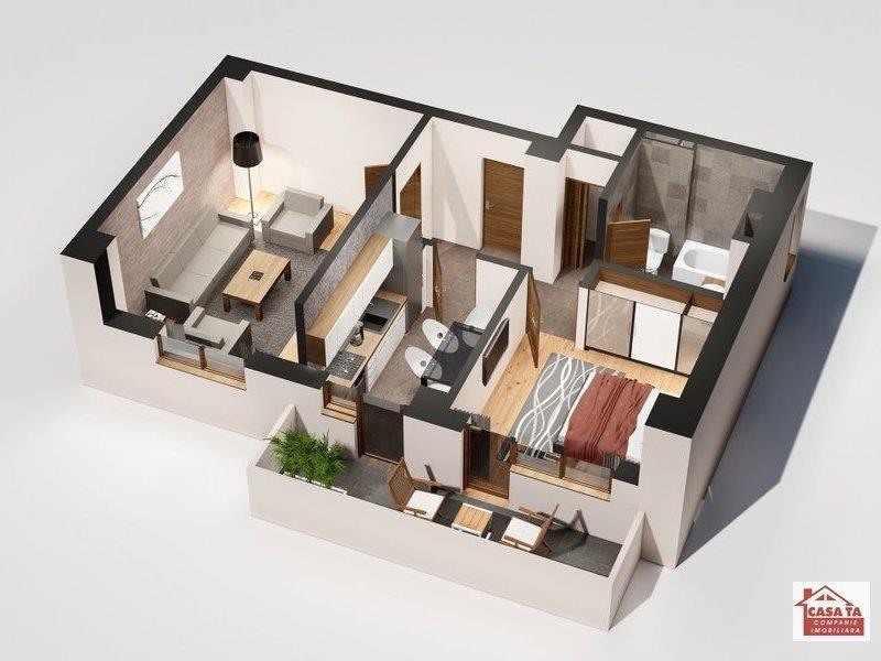 Apartament 2 camere, 57 mp, 65.000 euro, Tatarasi - Oancea