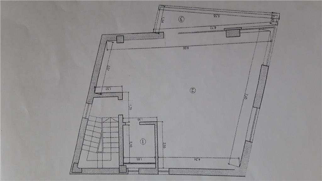 Spatiu de birouri 50 mp linga Palatul de Justiei Iasi