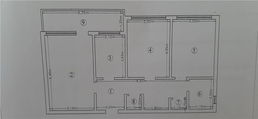 Apartament 3 D Tatarasi - in spate la complexul Stejar