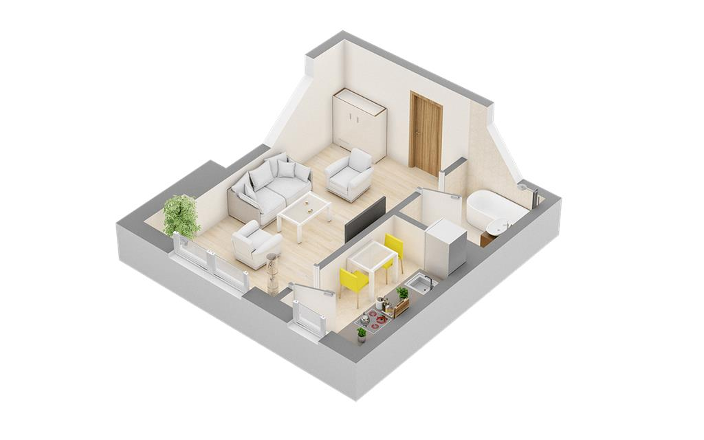 Apartament 1 camera 32 mp in Centru