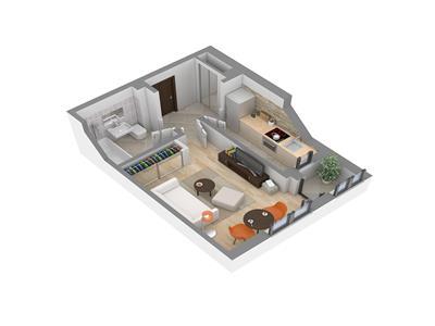 Tatarasi apartament 1 camera bloc nou 25000 EUR