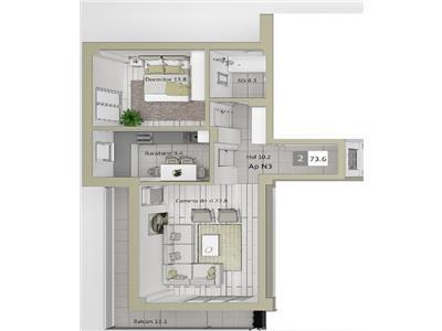 Apartament 2 CD bloc nou COMISION%