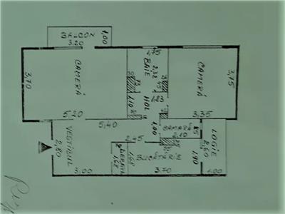 Apartament 2 camere decomandat Oancea, Tatarasi, 65mp