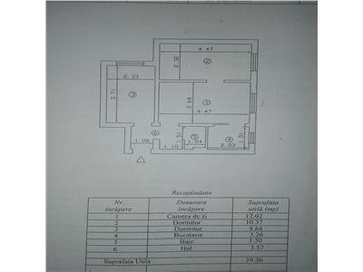Apartament 3 camere Tatarasi -Dispecer etaj 1 bloc fara risc