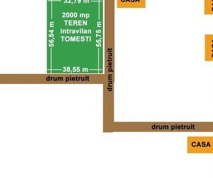 Teren intrav.2000 mp,ptr.casa,zona rezidentiala Chicerea